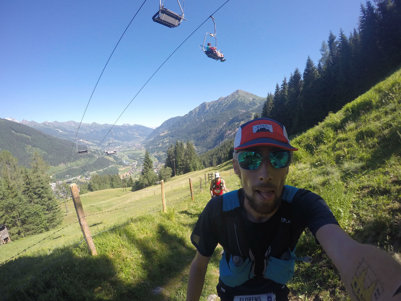 Crossing underneath a chair lift during the Infinite Trails World Championships