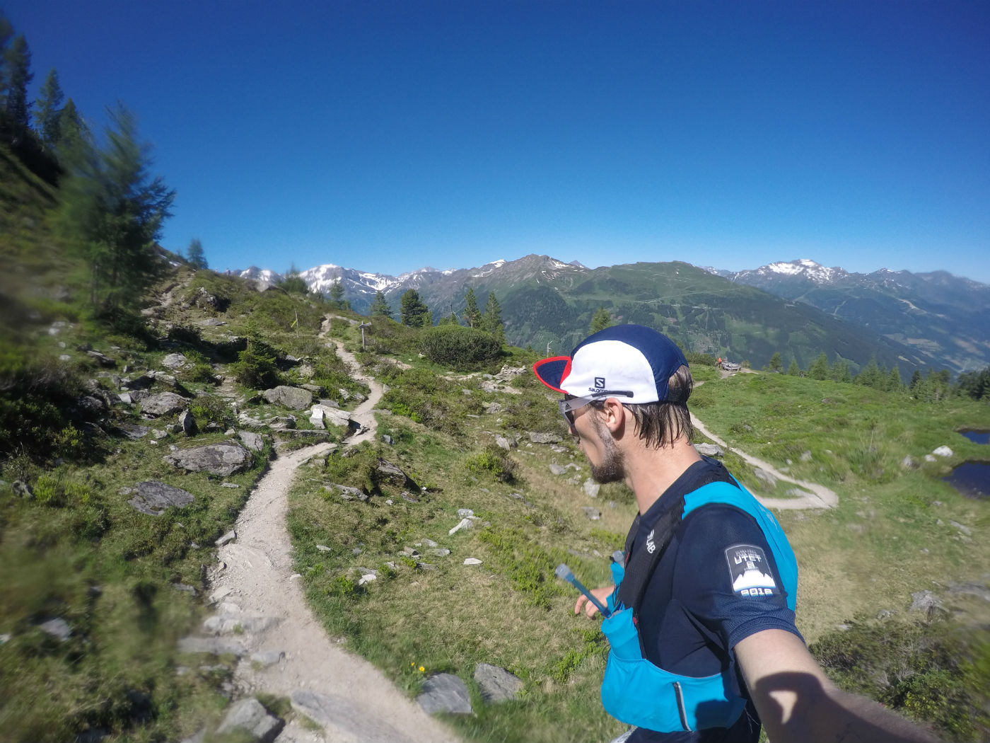 Cruising along the stunning trails at Graukogel overlooking the valley and the Zitterauer Tisch.