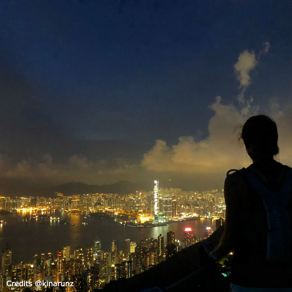 Hong Kong by night from Central Peak by kinarunz