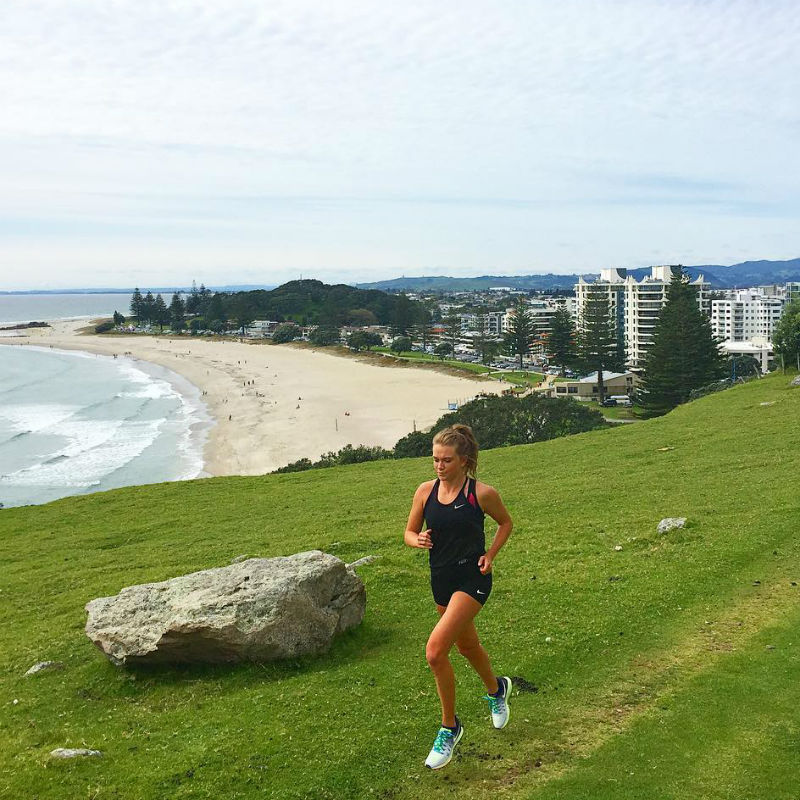 Esther Keown runs to discover Auckland
