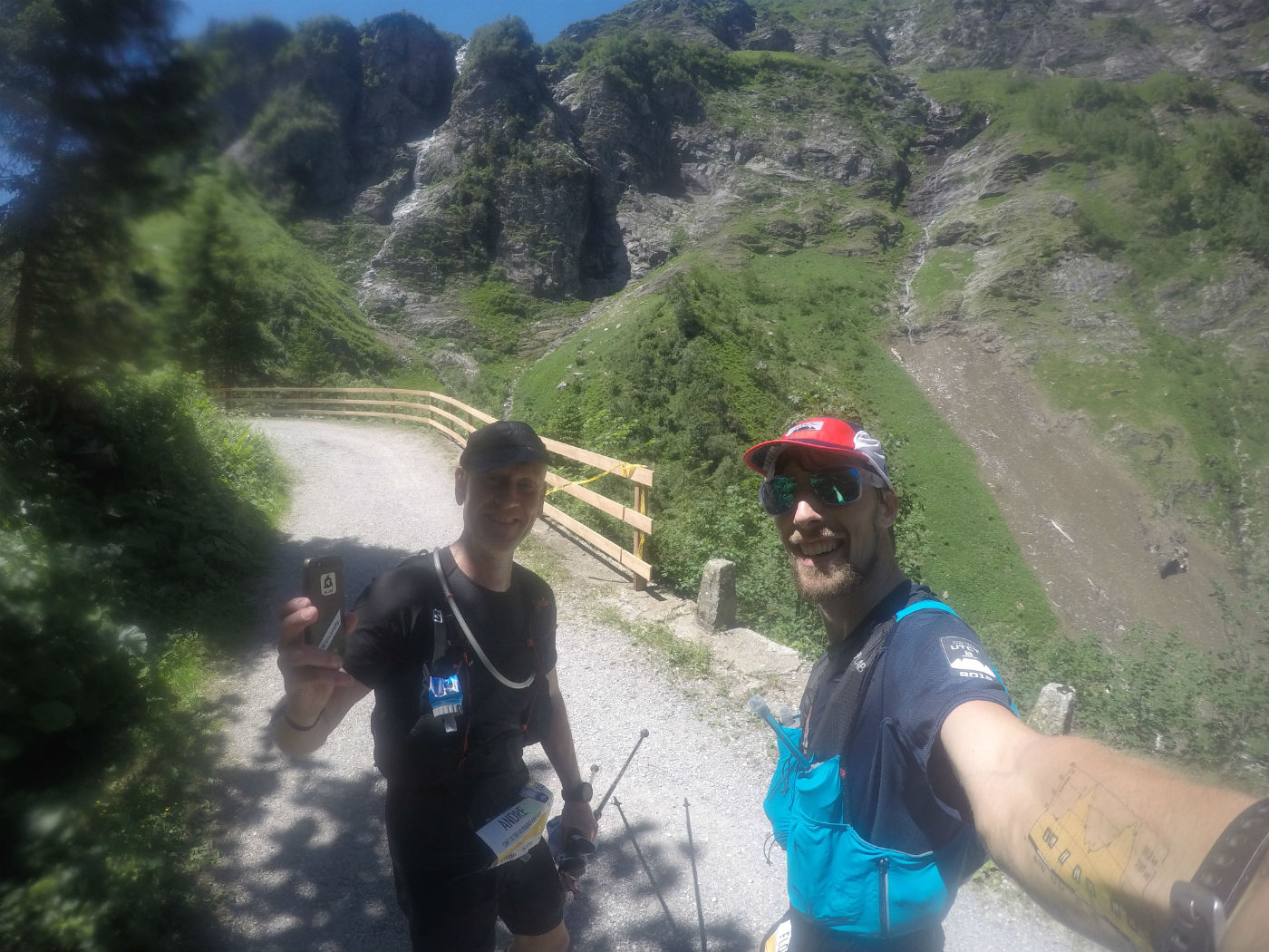 Taking a selfie with another runner during the Infinite Trails World Championships